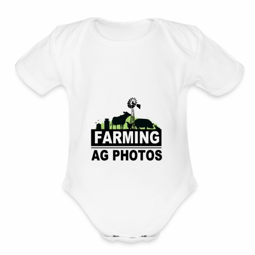 Farming Ag Photos - Organic Short Sleeve Baby Bodysuit