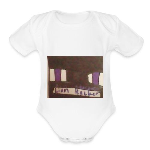 Lion haker t-shirt - Organic Short Sleeve Baby Bodysuit