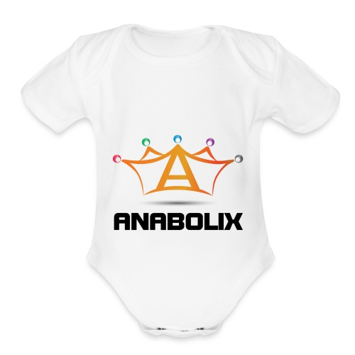 anabolix logo color - Organic Short Sleeve Baby Bodysuit