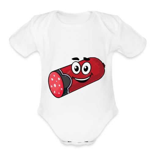 Salami and Mr Marshmello - Organic Short Sleeve Baby Bodysuit