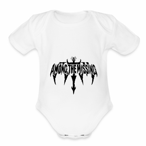 "Among The Missing ""Illuminati"" Logo - Organic Short Sleeve Baby Bodysuit"