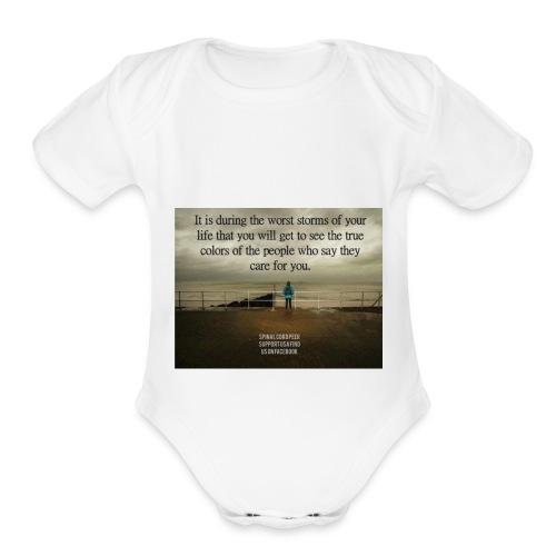 TM - Organic Short Sleeve Baby Bodysuit