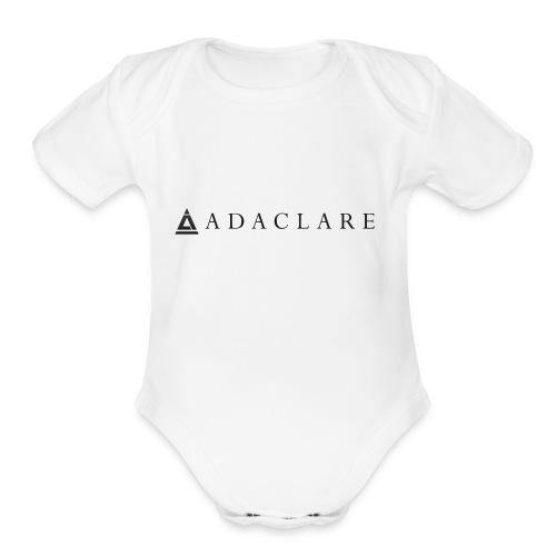 New Adaclare Logo - Organic Short Sleeve Baby Bodysuit