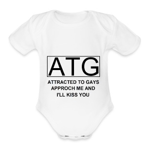 ATG Attracted to gays - Short Sleeve Baby Bodysuit