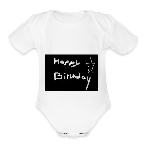 birthday - Organic Short Sleeve Baby Bodysuit