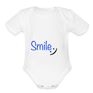 Smile - Short Sleeve Baby Bodysuit