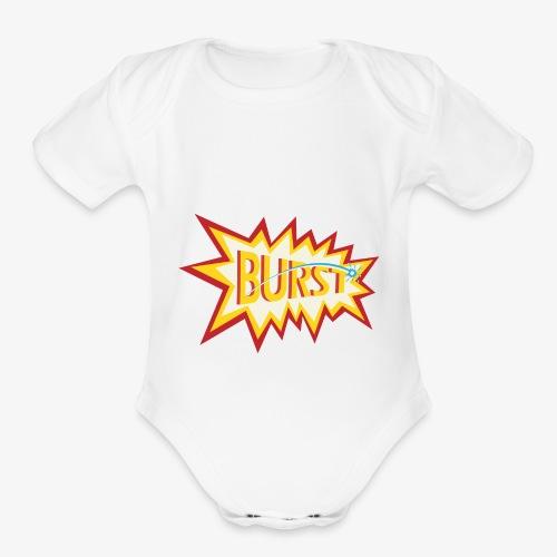 burst logo - Organic Short Sleeve Baby Bodysuit