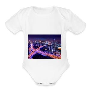 City - Short Sleeve Baby Bodysuit