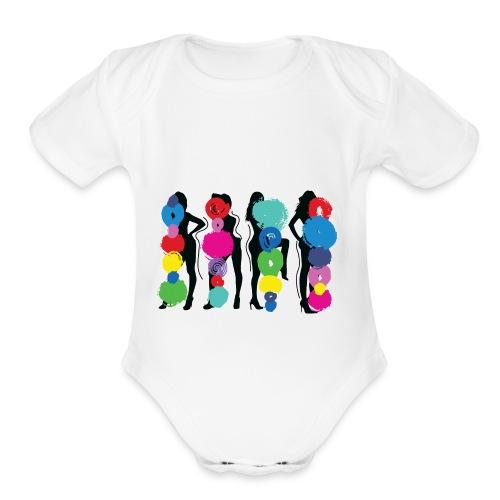 Girls Pose - Organic Short Sleeve Baby Bodysuit