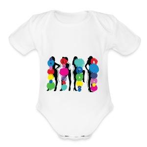 Girls Pose - Short Sleeve Baby Bodysuit