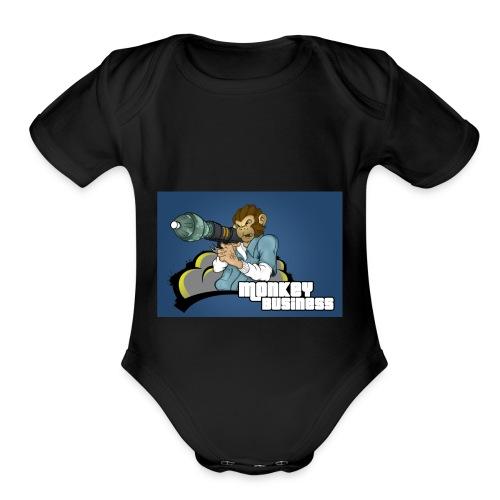 MonkeyBuisness - Organic Short Sleeve Baby Bodysuit