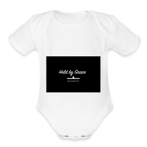 held by grace - Short Sleeve Baby Bodysuit