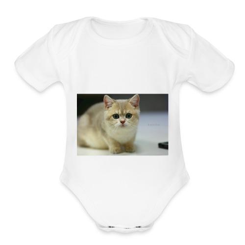 Mr. Vanilla - Organic Short Sleeve Baby Bodysuit