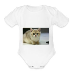 Mr. Vanilla - Short Sleeve Baby Bodysuit