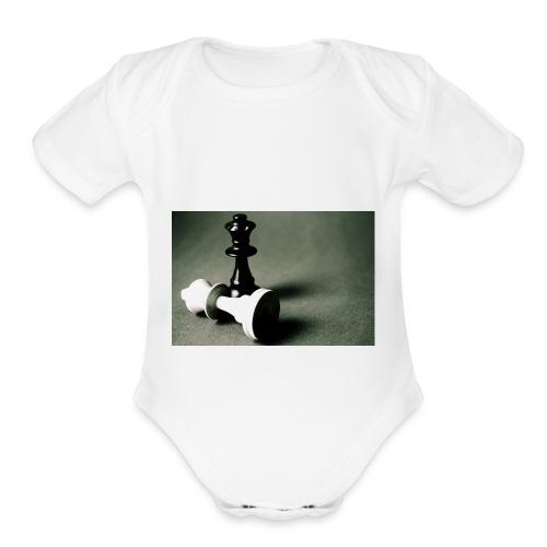 Chess Is Life - Organic Short Sleeve Baby Bodysuit