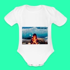 Girl Wave - Short Sleeve Baby Bodysuit