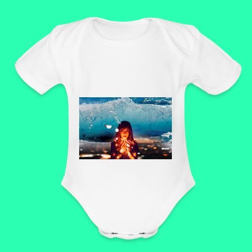 Girl Wave - Organic Short Sleeve Baby Bodysuit