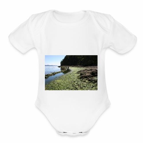Russell Island Clam Garden - Organic Short Sleeve Baby Bodysuit