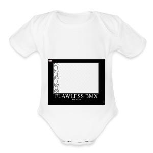 flawless bmx 3 - Short Sleeve Baby Bodysuit