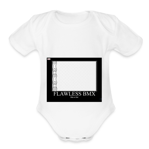flawless bmx 3 - Organic Short Sleeve Baby Bodysuit