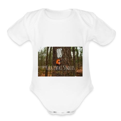 Back In Woods - Organic Short Sleeve Baby Bodysuit