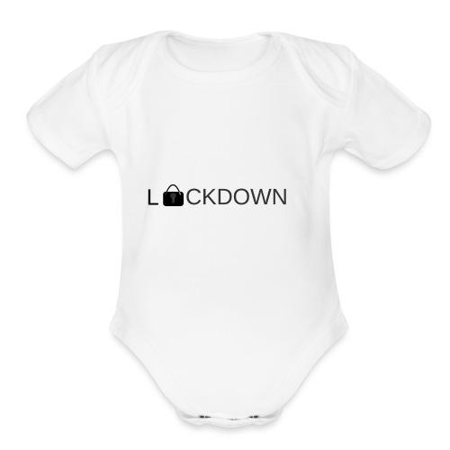 Lock Down - Organic Short Sleeve Baby Bodysuit