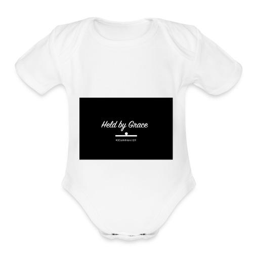held by grace - Organic Short Sleeve Baby Bodysuit