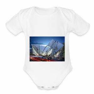 1014 4 1000 libeskind 4 - Short Sleeve Baby Bodysuit