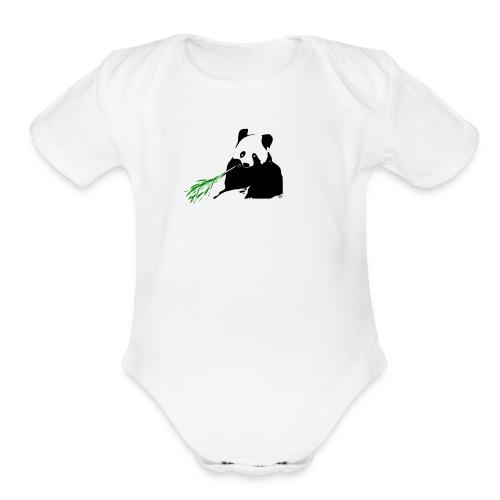Save the Pandas - Organic Short Sleeve Baby Bodysuit