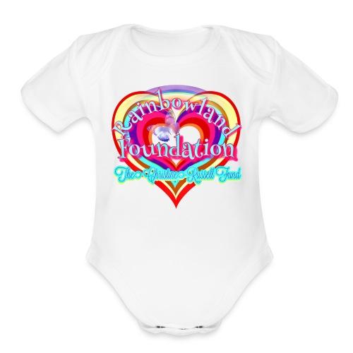 Rainbowland Foundation logo - Organic Short Sleeve Baby Bodysuit