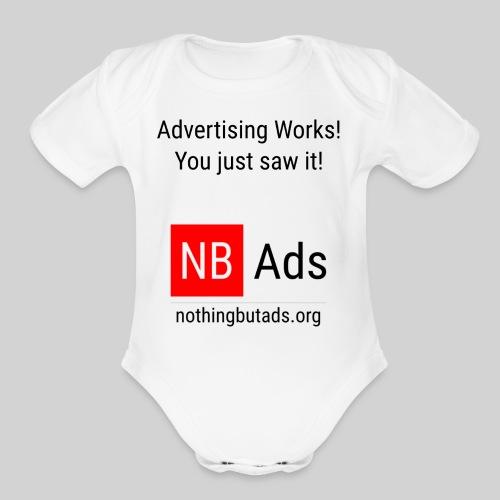 Advertising Works! - Organic Short Sleeve Baby Bodysuit