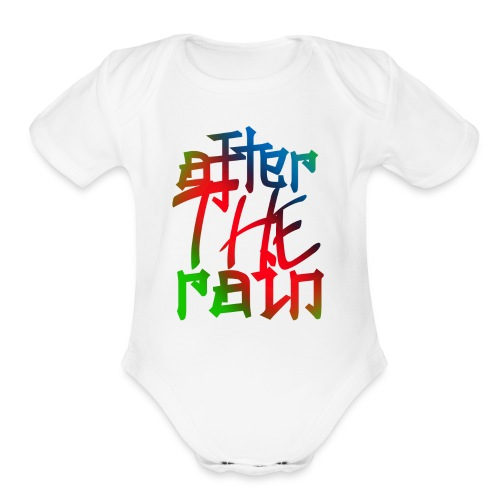 after the rain - Organic Short Sleeve Baby Bodysuit