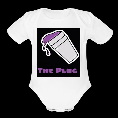 the Plug logo - Organic Short Sleeve Baby Bodysuit