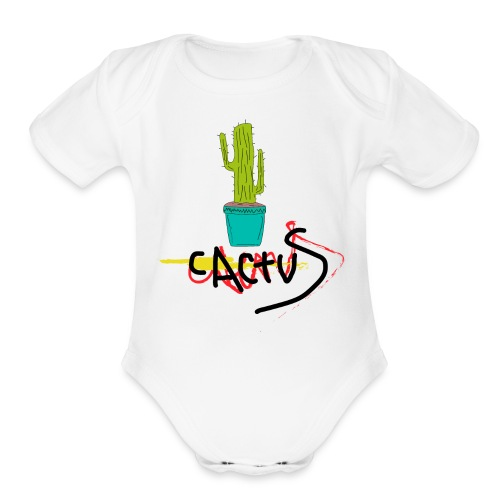 _cactus - Organic Short Sleeve Baby Bodysuit