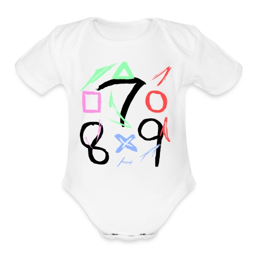 The official 789 Logo - Organic Short Sleeve Baby Bodysuit