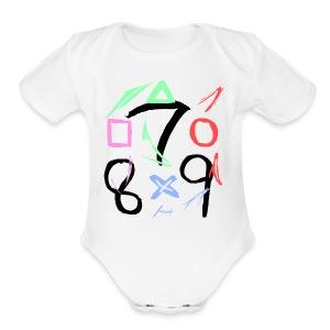 The official 789 Logo - Short Sleeve Baby Bodysuit