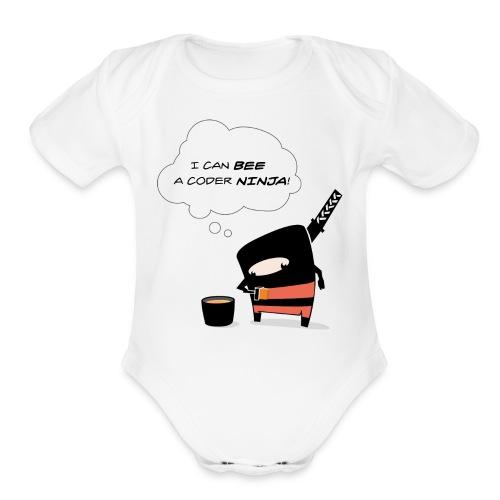 Bee awesome - Organic Short Sleeve Baby Bodysuit