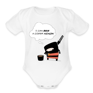 Bee awesome - Short Sleeve Baby Bodysuit