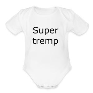 Super tremp name logo - Short Sleeve Baby Bodysuit