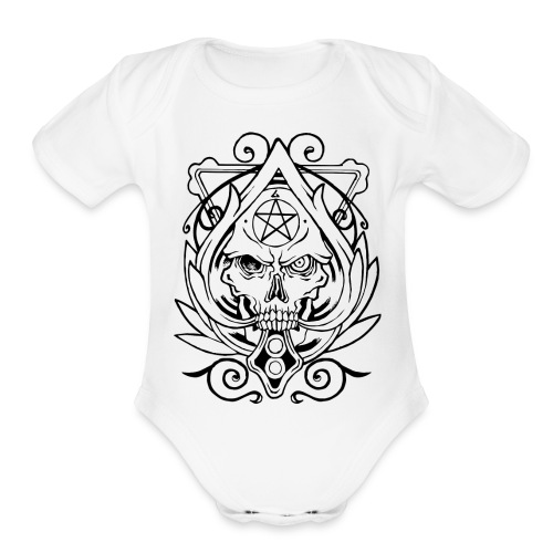 Skull Devil Inside - Organic Short Sleeve Baby Bodysuit