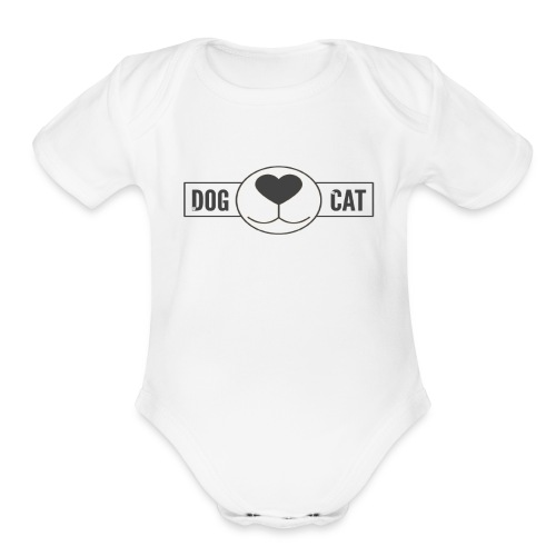 Funny T-shirt For those who love dogs and cats - Organic Short Sleeve Baby Bodysuit