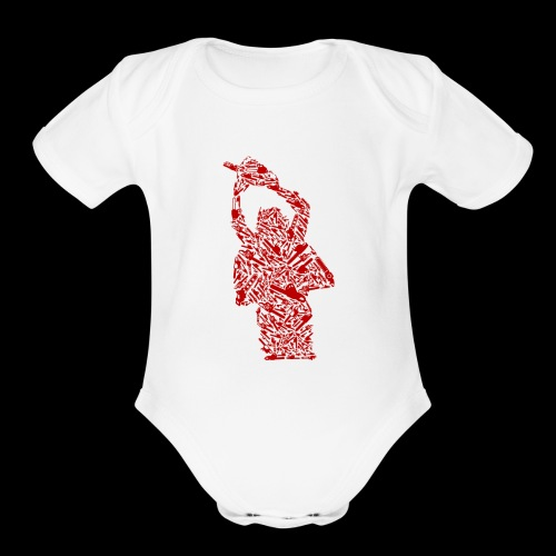 Chainsaw of Chainsaws | Halloween Horror Killer - Organic Short Sleeve Baby Bodysuit