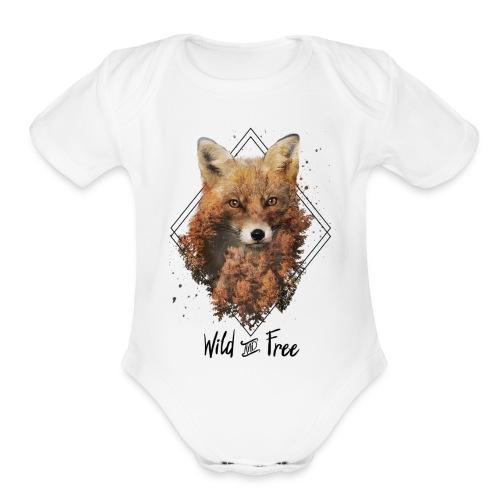 Wild & Free Fox - Organic Short Sleeve Baby Bodysuit