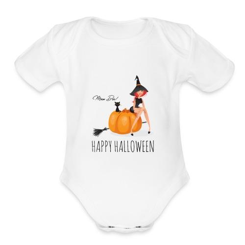 Happy Halloween - Organic Short Sleeve Baby Bodysuit