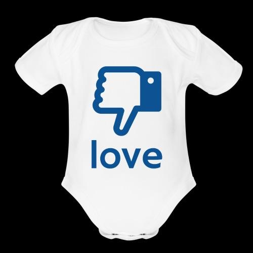 Un-LIKE Love - Organic Short Sleeve Baby Bodysuit