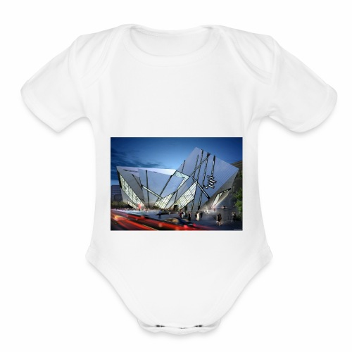 1014 4 1000 libeskind 4 - Organic Short Sleeve Baby Bodysuit