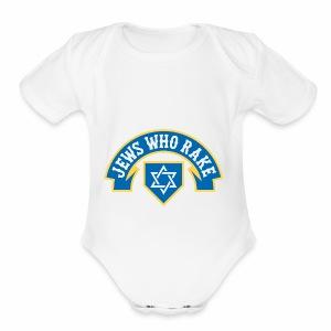 Jews Who Rake - Jew Crew - Short Sleeve Baby Bodysuit