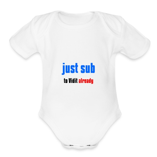 Just sub - Organic Short Sleeve Baby Bodysuit