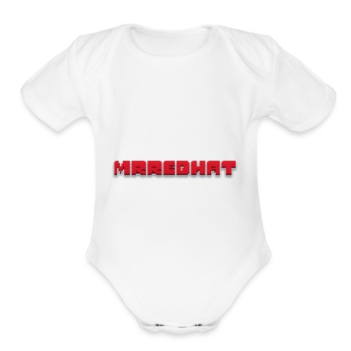 MrRedHat Plain Logo - Organic Short Sleeve Baby Bodysuit