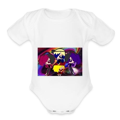ruwdyrock girl - Organic Short Sleeve Baby Bodysuit